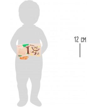Carte puzzle din lemn Legler Small Foot, Animale - Puzzle-uri