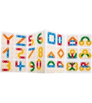 Joc din lemn Legler Small Foot, numere si litere - Jucării creativ-educative