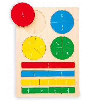 Joc educatic Legler Small Footde, expert in fractii - Jucării matematică
