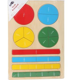 Joc educatic Legler Small Foot, expert in fractii - Jucării matematică