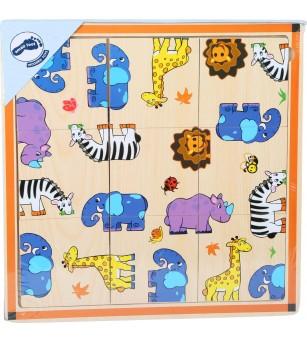 Puzzle din lemn Legler Small Foot, Safari - Puzzle-uri