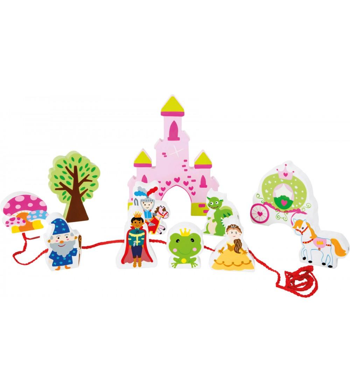Set de joaca de snuruit Legler Small Foot, Castelul de poveste - Jucării de lemn si Montessori