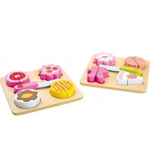 Set alimente din lemn Legler Small Foot - Bucătărie copii
