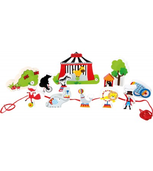 Set de joaca de snuruit Legler Small Foot, La circ - Jucării de lemn si Montessori