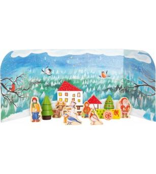 Calendar Advent Legler Small Foot, Iarna in padure - Jucării de lemn si Montessori
