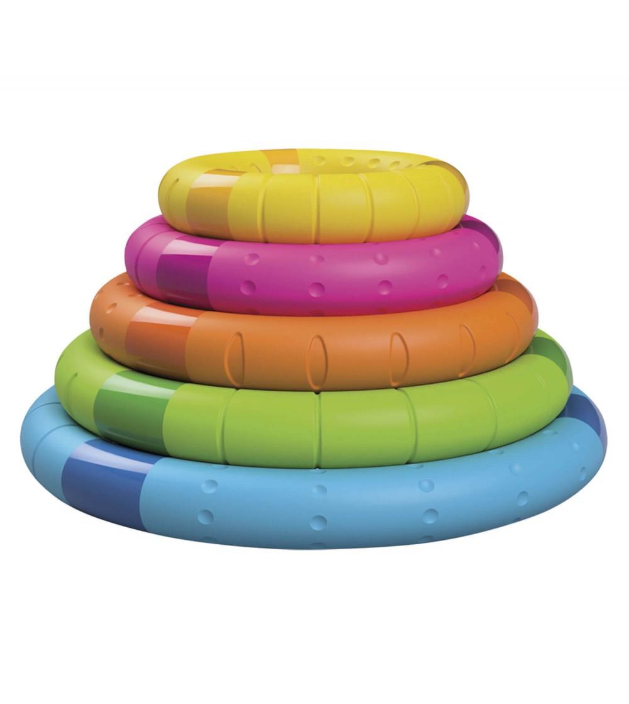 Jucarie senzoriala Tinker Rings Fat Brain Toys - Jucării bebeluși