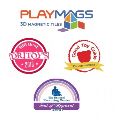Set Playmags 80 piese magnetice de construcție - Jucarii magnetice