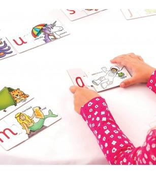 Puzzle in limba engleza Orchard Toys - Invata alfabetul prin asociere - Puzzle-uri