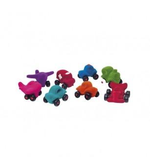Set asortat 8 vehicule cauciuc natural M1, Rubbabu - Vehicule de jucărie