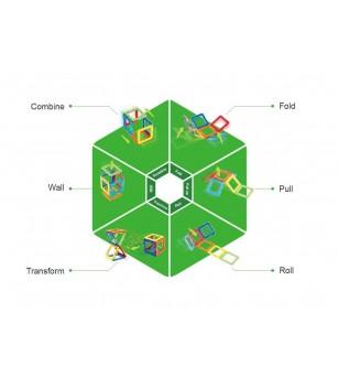 Set magnetic de construit Magformers, Uimitorul set cu vehicule de interventie - Jucarii magnetice