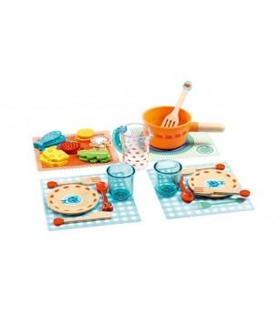 Invitatie la masa Djeco - Jucării de lemn si Montessori
