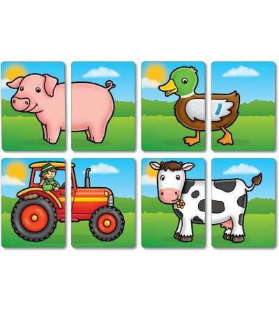 Joc educativ asociere - Prietenii de la fermă - Jocuri de memorie și asociere