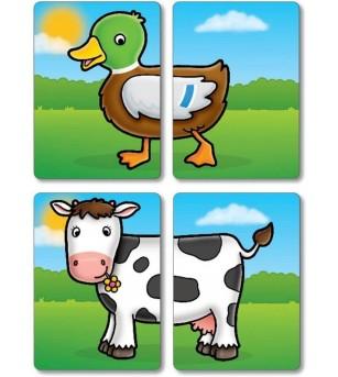 Joc educativ asociere Orchard Toys - Prietenii de la ferma - Jocuri de memorie și asociere