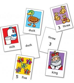 Joc educativ în limba engleză - Cartonașe - Jucării limbaj
