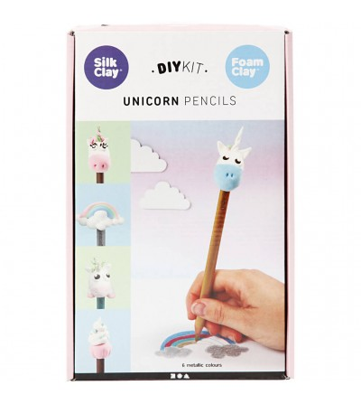 Kit creione unicorn - din plastilina Foam Clay si Silk Clay - Crafturi