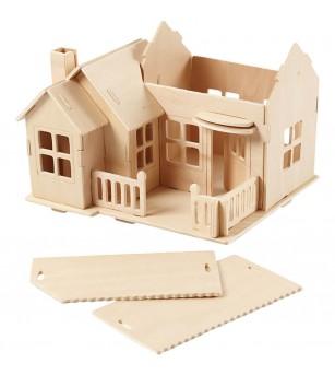 Kit asamblare - Casuta cu terasa - Jocuri construcție