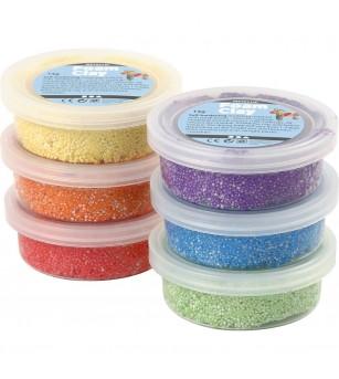 Set spuma de modelat Foam Clay, 6 culori metalice - Crafturi