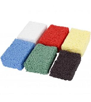 Set spuma moale Soft Foam, 6 culori - Crafturi