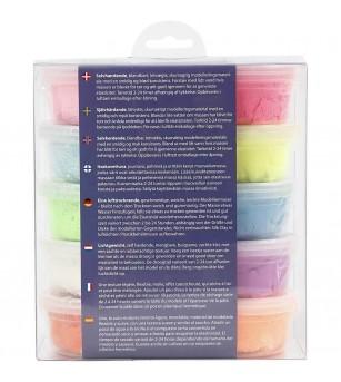 Set plastilina moale Silk Clay 10 culori de baza - Crafturi
