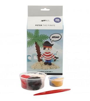 Kit piratul Peter din plastilina Silk Clay - Crafturi