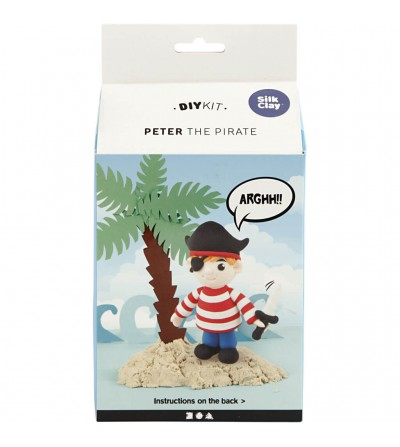 Kit piratul Peter din plastilina Silk Clay - Crafturi