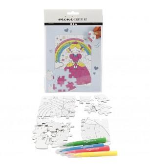 Mini kit creativ - puzzle printese - Crafturi