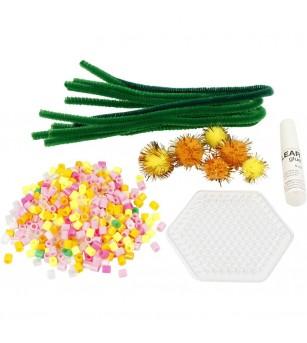 Mini kit creativ - buchet de flori - Lucru manual