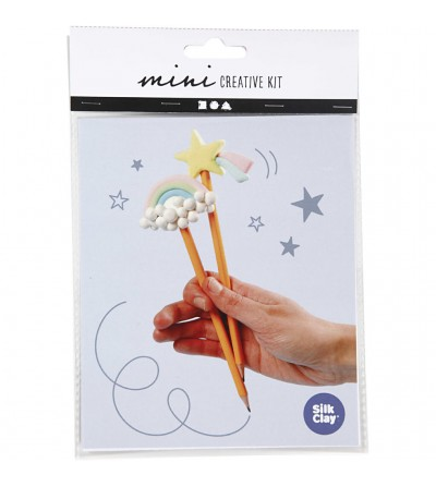 Mini kit creativ - creione decorate cu plastilina Silk Clay - Crafturi