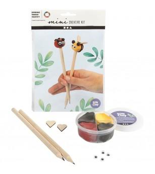 Mini kit creativ creione decorate cu plastilina Silk Clay - insecte - Crafturi