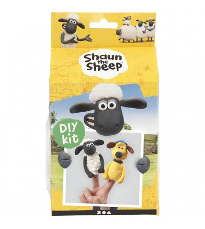 Kit DIY Shaun the Sheep - Papusi pentru deget din plastilina Silk Clay si Foam Clay - Crafturi