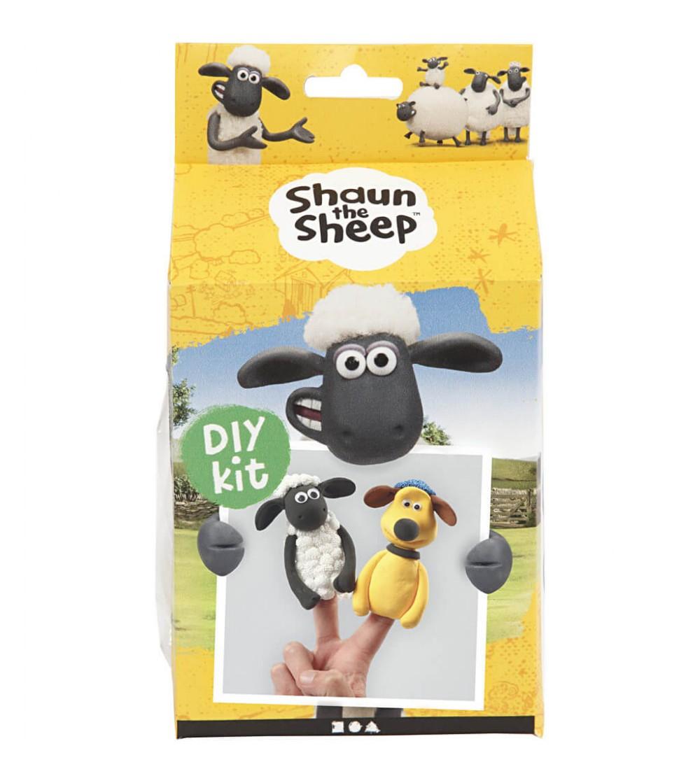 Kit DIY Shaun the Sheep - Papusi pentru deget din plastilina Silk Clay si Foam Clay - Crafturi