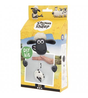 Kit DIY Shaun the Sheep - Yoyo din plastilina Silk Clay si Foam Clay - Crafturi