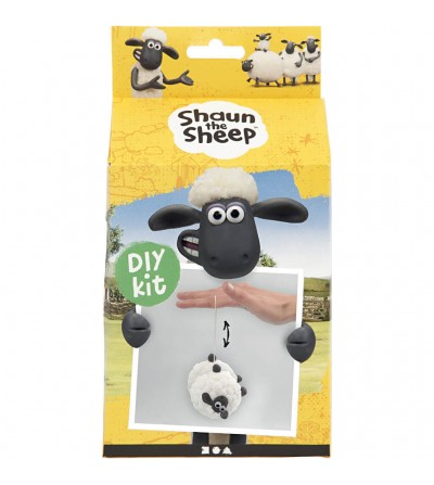 Kit DIY Shaun the Sheep - Yoyo din plastilina Silk Clay si Foam Clay - Crafturi