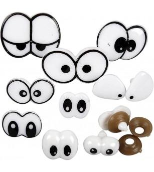Set accesorii figurine plastilina - ochi amuzanti - Crafturi