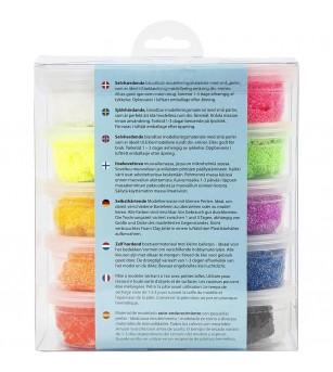 Set spuma de modelat Foam Clay, 10 culori - Crafturi
