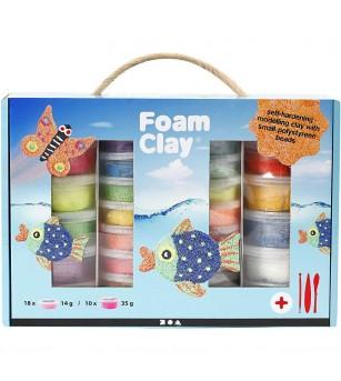 Set spuma de modelat Foam Clay, culori asortate - Crafturi
