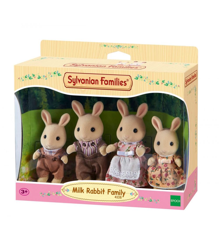 Figurine Sylvanian Families 4108 - Familia de iepurași Milk - Figurine
