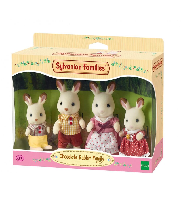 Figurine Sylvanian Families 4150 - Familia de iepurași Ciocolata - Figurine