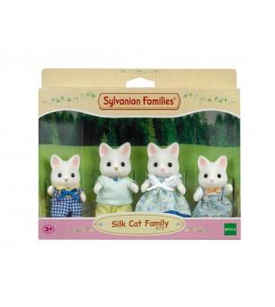 Figurine Sylvanian Families 4175 - Familia de pisici Matase - Figurine