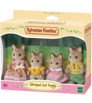 Figurine Sylvanian Families 5180 - Familia pisicilor cu dungi - Figurine