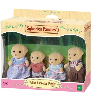Figurine Sylvanian Families 5182 - Familia Labrador Galben - Figurine