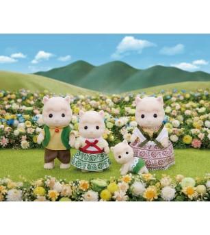 Figurine Sylvanian Families 5358 - Familia Alpaca - Figurine