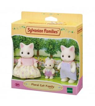 Figurine Sylvanian Families 5373 - Familia de pisici Floral - Figurine