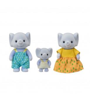 Figurine Sylvanian Families 5376 - Familia Elefant - Figurine