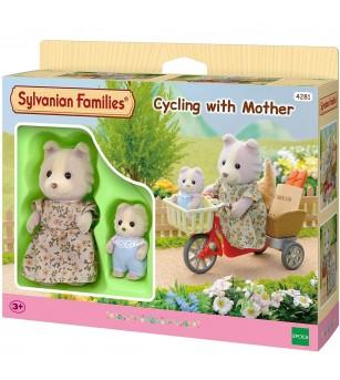 Figurine Sylvanian Families 4281 - Ciclism cu mama - Figurine