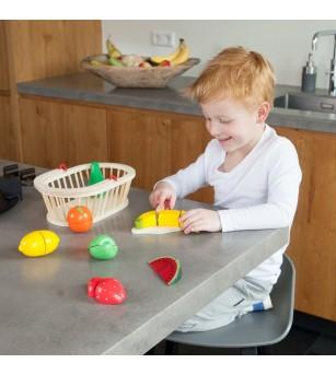 Cosulet cu fructe - Jucării de lemn si Montessori
