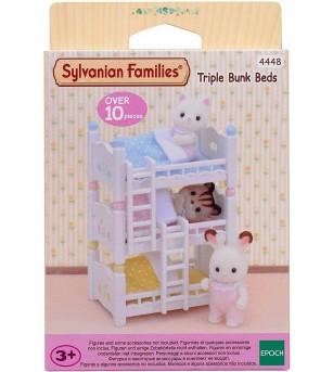 Sylvanian Families 4448 - Paturi supraetajate triple - Figurine