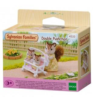 Sylvanian Families 4533 - Carucior dublu - Figurine