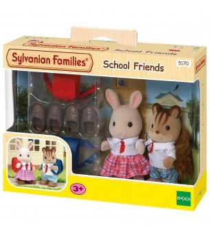 Figurine Sylvanian Families 5170 - Prieteni de scoala - Figurine