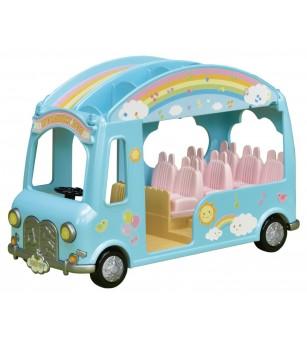 Sylvanian Families 5317 - Autobuzul curcubeu - Figurine